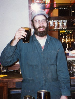 Glen Falconer toasting with his craft brewed beer at the Wild Duck Brewery.